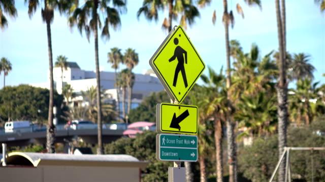 Street sign in California in 4K video