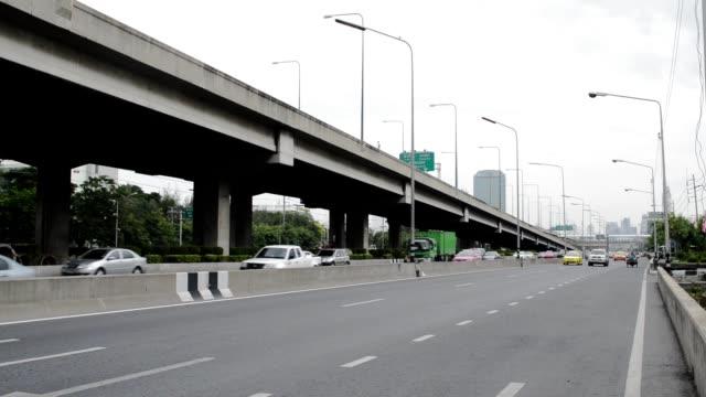 Street Traffic in Bangkok City in the rush hour