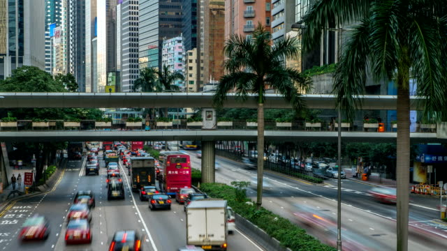 Street Traffic in Hong Kong video