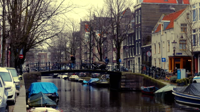 streets and channels of Amsterdam video