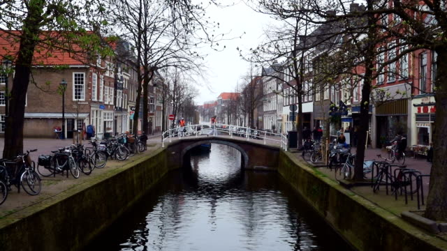 streets and channels of Delft video