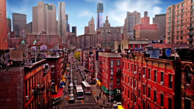 Streets of Chinatown in New York video