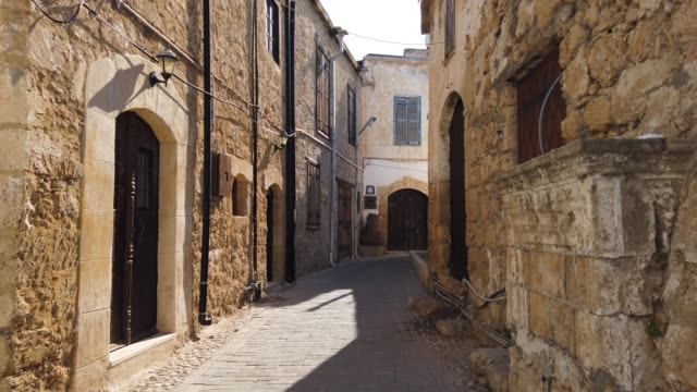 Streets of Kyrenia - Cyprus. Beautiful streets of Kyrenia - Cyprus. greek islands stock videos & royalty-free footage