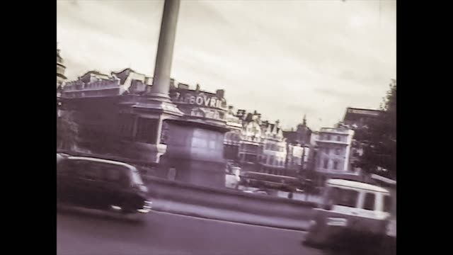 LONDON, UK 9 JUNE 1975: Streets of London in daily life taken up in the mid 70's, 4K Digitized footage 18