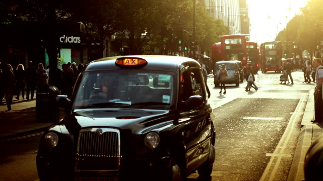 Streets of London in rush hours video