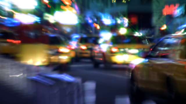 NYC Streets, Taxis, Traffic & People video