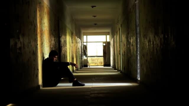 Stress Man Suit Depression Business Failure Concept HD video