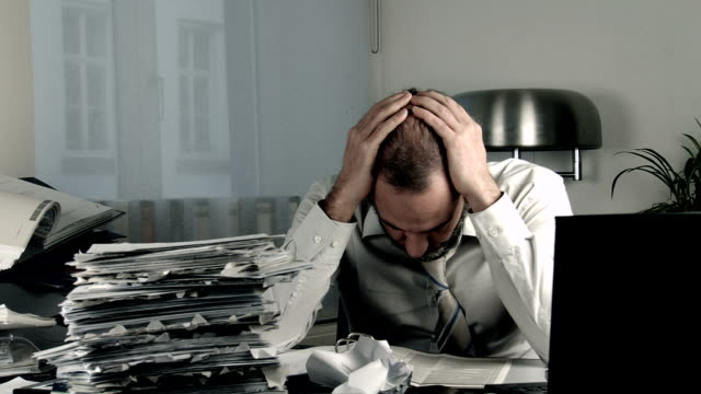 Stressed Businessman video