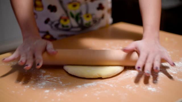 Stretching dough video