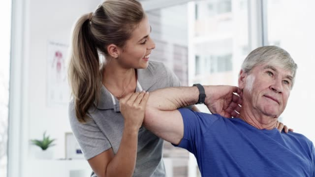 stretching makes all the difference - chiropractor stock videos and b-roll footage