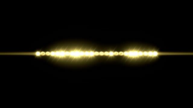 Strip of Lights Line of Flashing Lights video