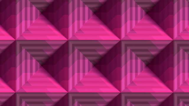 Striped boxes digital seamless loop animation. Design element. Optical illusion, psychedelic lines art background. 3d rendering. HD resolution
