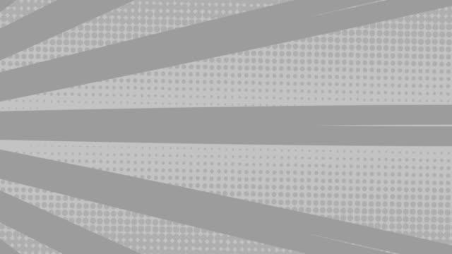 streifen rotieren und punkte bewegen sich vor grauem hintergrund - begriffssymbol stock-videos und b-roll-filmmaterial