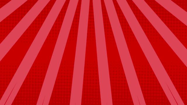 streifen rotieren und punkte bewegen sich vor rosa hintergrund - begriffssymbol stock-videos und b-roll-filmmaterial
