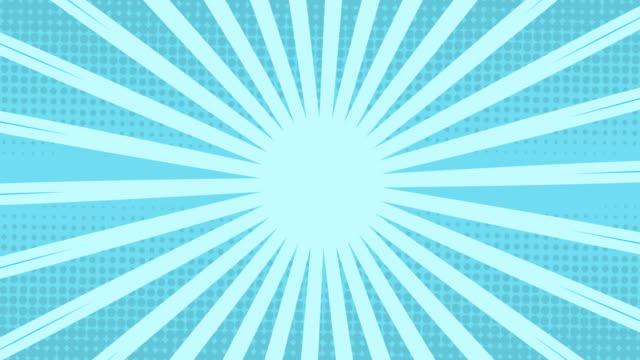 streifen, die sich vor blauem hintergrund drehen und bewegen - begriffssymbol stock-videos und b-roll-filmmaterial