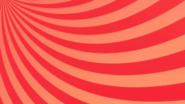 streifen, die sich vor orangefarbenem hintergrund drehen und bewegen - begriffssymbol stock-videos und b-roll-filmmaterial
