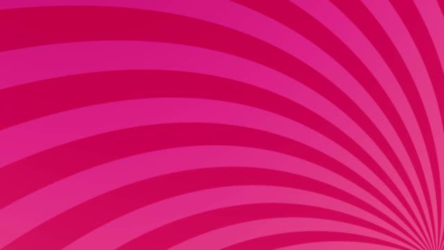 streifen, die sich vor rosa hintergrund drehen und bewegen - begriffssymbol stock-videos und b-roll-filmmaterial