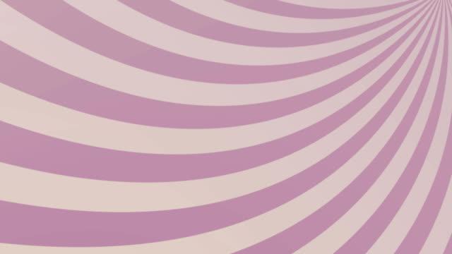 streifen, die sich vor lila hintergrund drehen und bewegen - begriffssymbol stock-videos und b-roll-filmmaterial