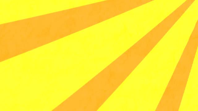 streifen, die sich vor gelbem hintergrund drehen und bewegen - begriffssymbol stock-videos und b-roll-filmmaterial