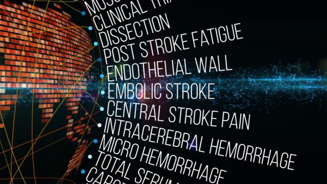 vídeos de stock e filmes b-roll de stroke terms - enfarte