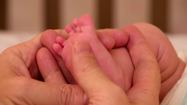 Stroking Children's Heels video