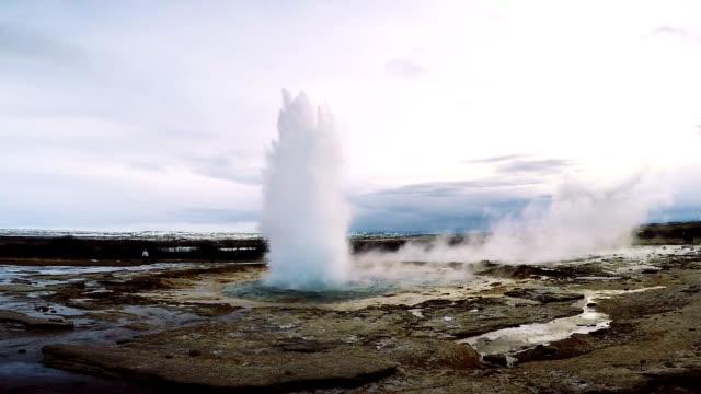 Strokkur Geyser Iceland erupting video