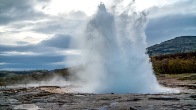 SLOW MOTION Strokkur Geyser Iceland video