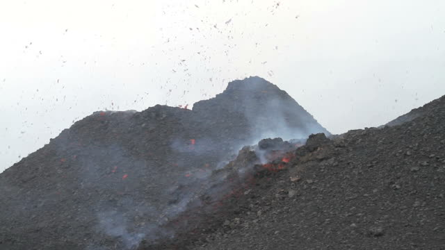 Strombolian activity from the cinder cone video