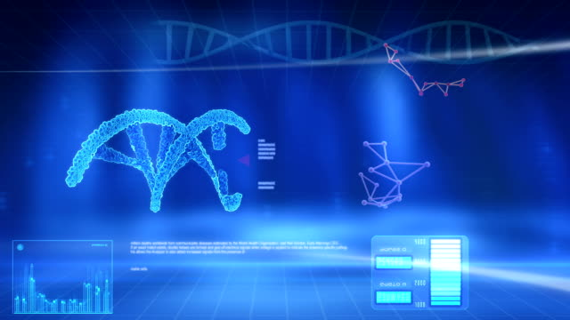 Structure DNA on the blue screen. video