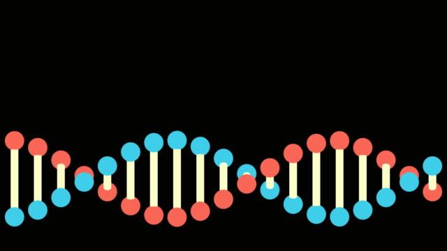 Structure de l'ADN de 4K - bouclables - Vidéo