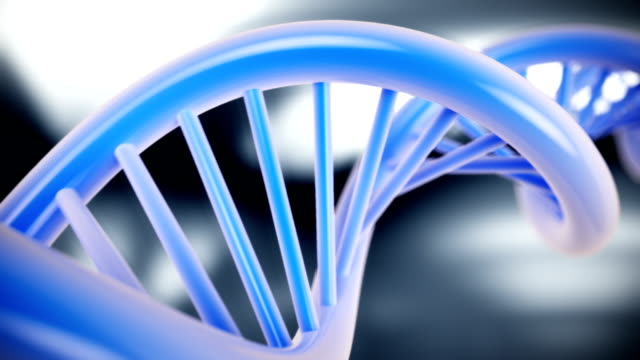 DNA structure model on abstract background. CG HD video