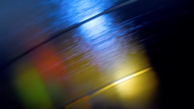 Structure, texture, surface pattern of vinyl disc. Color illumination, leaks video