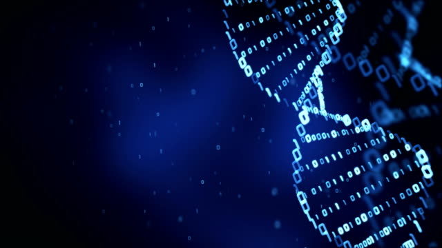 dna structure (loop) - binary code stock videos & royalty-free footage