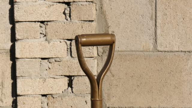 Stucked shovel with shadow shot