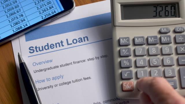 student loan document. - długi filmów i materiałów b-roll