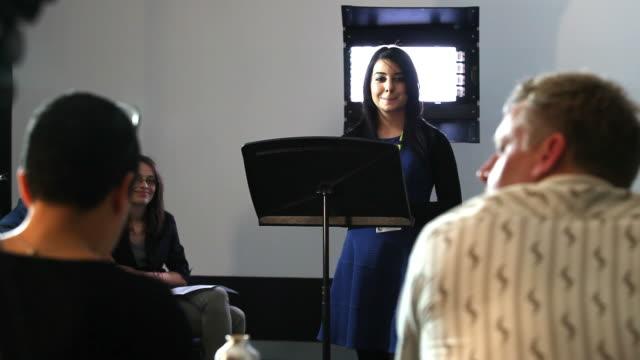 Student presentation to teaching panel video