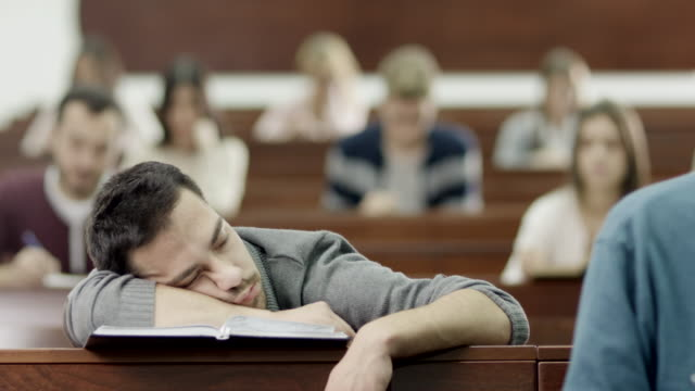 Student Sleeping in Classroom video