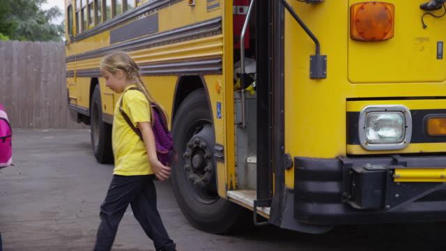 Petite lesbians on a school bus — pic 3