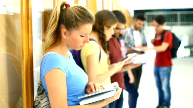 Students in class. video