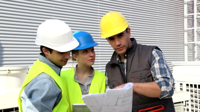 Students on industrial site video