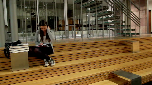 Students Study in the Library video