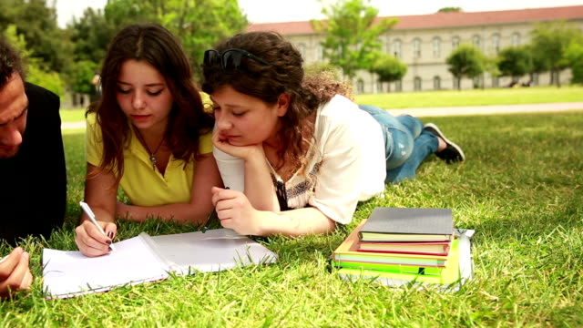 Students studying at the campus video