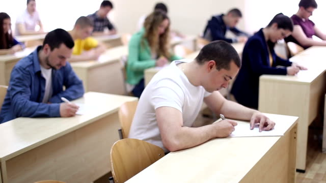 Students taking test Students taking examination test educational exam stock videos & royalty-free footage