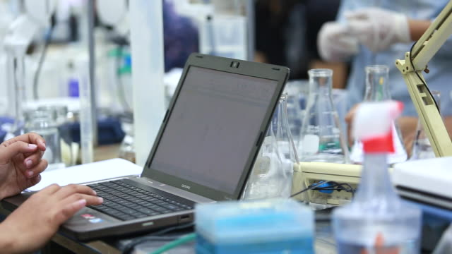 Students Working in Lab video