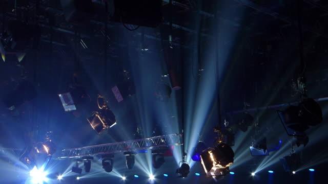 Studio lighting Lights in studio, technicolor color profile arts culture and entertainment stock videos & royalty-free footage