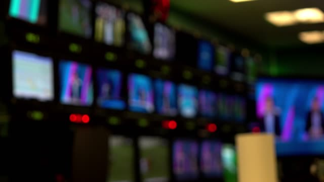 TV studio USA, Broadcasting, Television Industry, Television Studio, Television Set multimedia stock videos & royalty-free footage