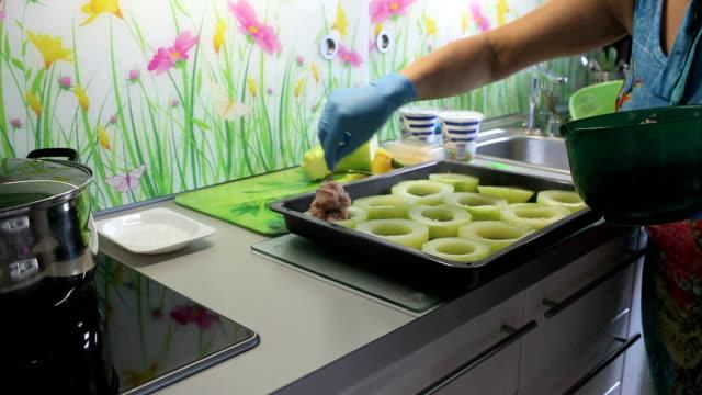 stuffed zucchini stuffed zucchini recipe of preparation stuffed stock videos & royalty-free footage