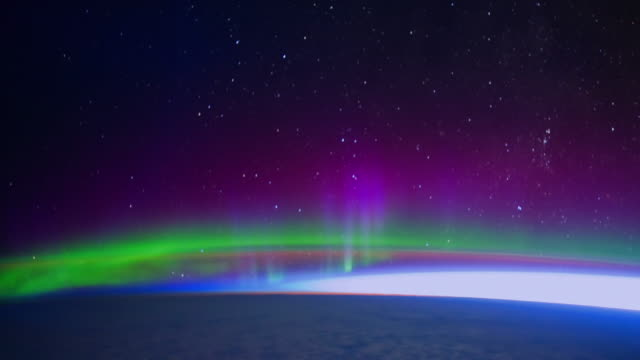 Stunning Aurora Borealis seen from Space. Nasa Public Domain Imagery