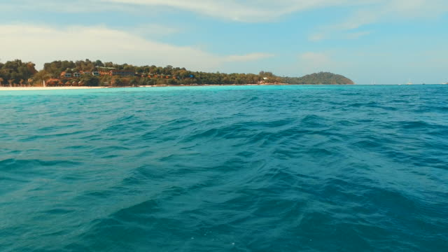 Stunning Blue Turquoise Sea on Tropical Islands video