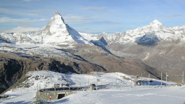 Stunning View Of Matterhorn In Swiss Alps video